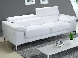 canapé cuir blanc but canape cuir blanc canapac cuir blanc 3 places inspirac ludwig mies