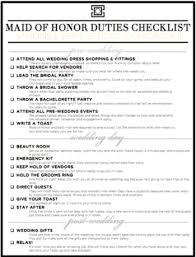 of honor planner wedding planner duties checklist xeniapolska of honor duties