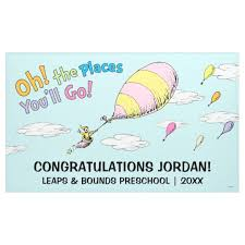 oh the places you ll go graduation oh the places you ll go graduation announcement banner zazzle