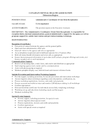 sles of receptionist resumes 28 images cover letter front desk