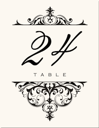 wedding table number fonts wedding table numbers vintage table number designs vintage table