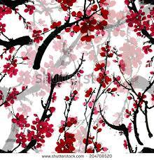 japanese cherry blossom tree seamless stock vector