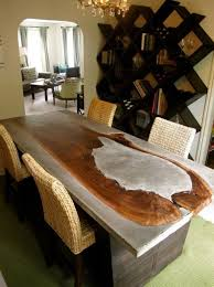 concrete and wood dining table concrete table with wood combination to blow your mind design pinn