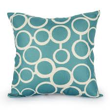 aliexpress com buy quatrefoil teal turquoise throw pillow case
