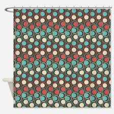 Circles Shower Curtain Brown Circle Shower Curtains Cafepress