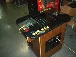 coffee table game console 285 bally midway pacman cocktail table arcade video game