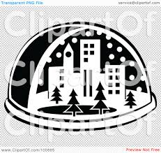royalty free rf clipart illustration of a black and white snow