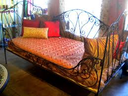 Wrought Iron Daybed Furthur Wrought Iron And Carved Teak Beds