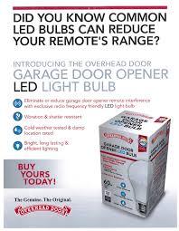 Overhead Door Programming Remote Led Bulb Designed For Your Garage Door Opener