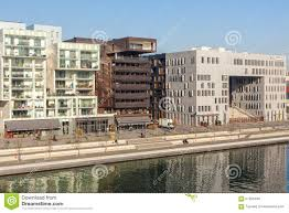 the confluence district in lyon france editorial stock photo