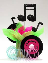theme centerpieces rock roll theme party centerpiece ideas awesome events
