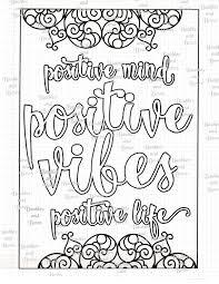 positive printable mandala coloring page digital by sewlacee