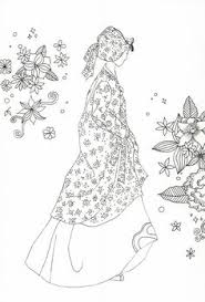 fashion design coloring pages coloring page korean traditional clothing asian
