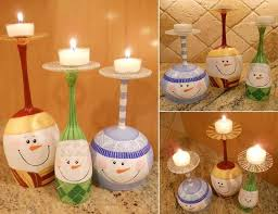 wine glass snow globes wine glass snowmen candle stands diy cozy home