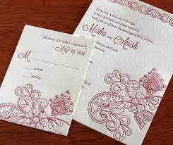 south asian wedding invitations misha indian wedding card letterpress wedding invitation