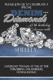 denim and diamonds birthday invitations denim and diamonds