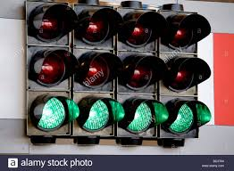 set of four green traffic lights stock photo royalty free image
