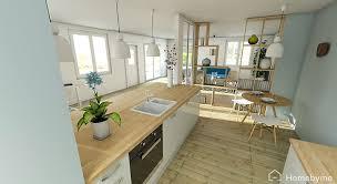 agencement de cuisine amenagement cuisine ouverte salon modern aatl agencement sejour