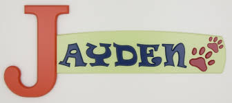 canadian custom made wooden name signs and alphabet letters for