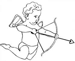 baby cupid happy valentines day coloring page printable free