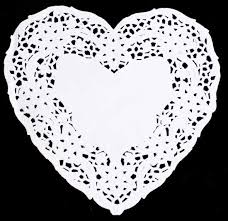 heart doilies lace heart paper doilies s day crafts