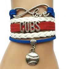 bracelet infinity love images Infinity love cubs baseball bracelet handmade sports jpg