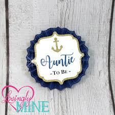 name tags corsages navy blue white u0026 glitter gold nautical baby