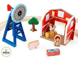 amazon com kidkraft farm train set toys u0026 games