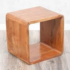 couchtisch akazie cube lalita stone a 43x43cm akazie massivholz couchtisch