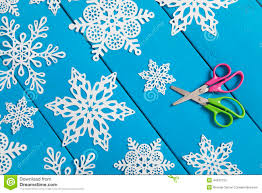 snowflake paper crafts stock photo image 44342150