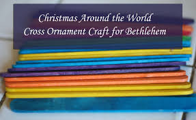 christmas around the world cross ornaments for bethlehem more