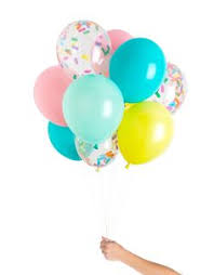 clear l base to fill you ve got mail confetti balloons clear balloons confetti and shapes
