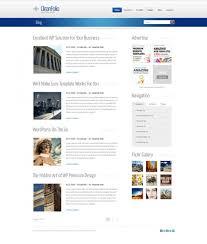 blueline html template blog style website templates