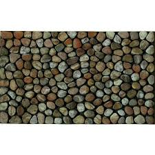 Exterior Door Mat Apache Mills Pebble 18 In X 30 In Recycled Rubber Door Mat