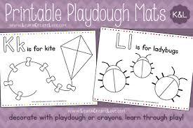printable alphabet mat printable playdough mats k l