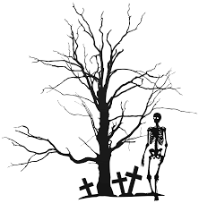 halloween free clipart halloween tree and skeleton png clipart image gallery