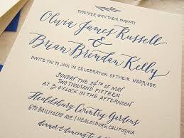 calligraphy invitations cobalt calligraphy wedding invitations