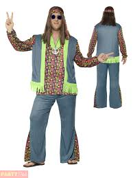Size Hippie Halloween Costumes Adults Hippie Costume Mens Ladies Size Hippy Fancy Dress 60s
