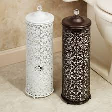 Black Toilet by Lace Design Metal Toilet Tissue Holder