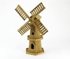 large wooden windmill patio garden ornament co uk garden