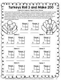 math fourth grade thanksgiving activities