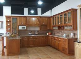 Kitchen Cabinet Varnish by Kitchen Design For Small Apartment Brown Varnish Wood Full Area
