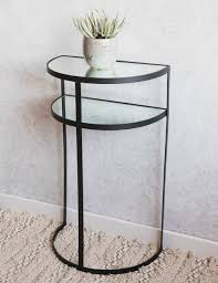 black metal entry table furniture half moon foyer table small entry glass with black