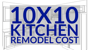 Kitchen Remodel Cost Estimate 10x10 Kitchen Remodel Cost How To Calculate A Small Kitchen