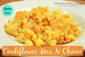 Low Carb Comfort Food Wholesome Dinner Tonight Cauliflower Mac N Cheese Gluten Free