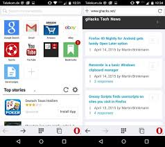 bookmarks on android opera mini for android update comes with new user interface