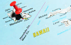 United States Map With Hawaii by London Uk 13 June 2012 Honolulu Hawaii Marked With Red