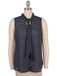 sleeveless tie neck blouse l agence printed tie neck blouse larrimor s