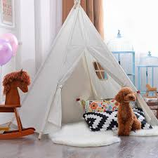 5 sided 6 u0027 kids teepee tent with decorations and ready to paint
