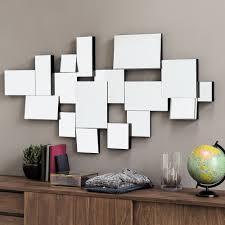 Bevelled Mirror Graphic Wooden Bevelled Mirror Black H 140cm Maisons Du Monde